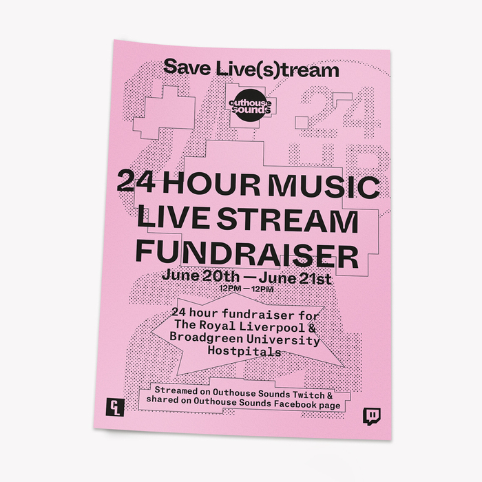 Outhouse Sounds live stream fundraiser poster 1