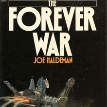 <cite>The Forever War</cite> (1976) and <cite>Mindbridge</cite> (1977) by Joe Haldeman (Orbit)