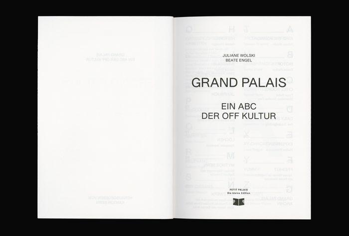 Grand Palais A–Z. Ein ABC der Off Kultur 3