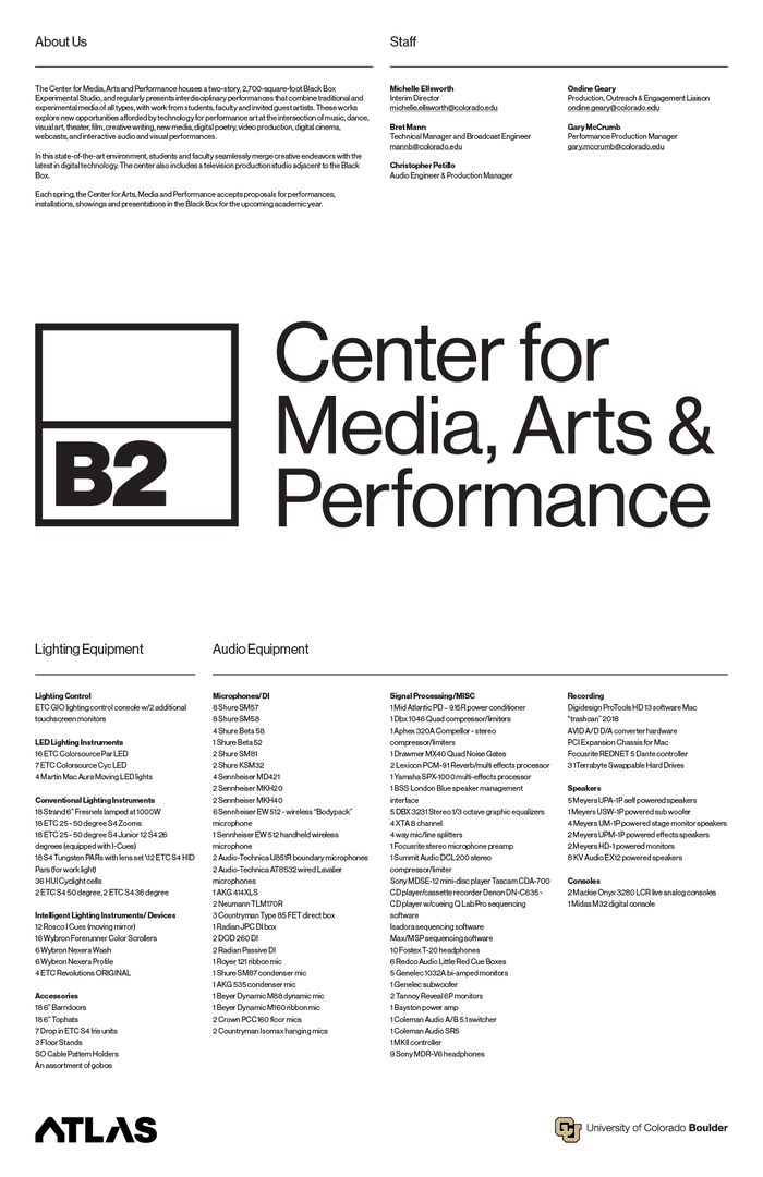 B2: Center for Media, Arts & Performance 6