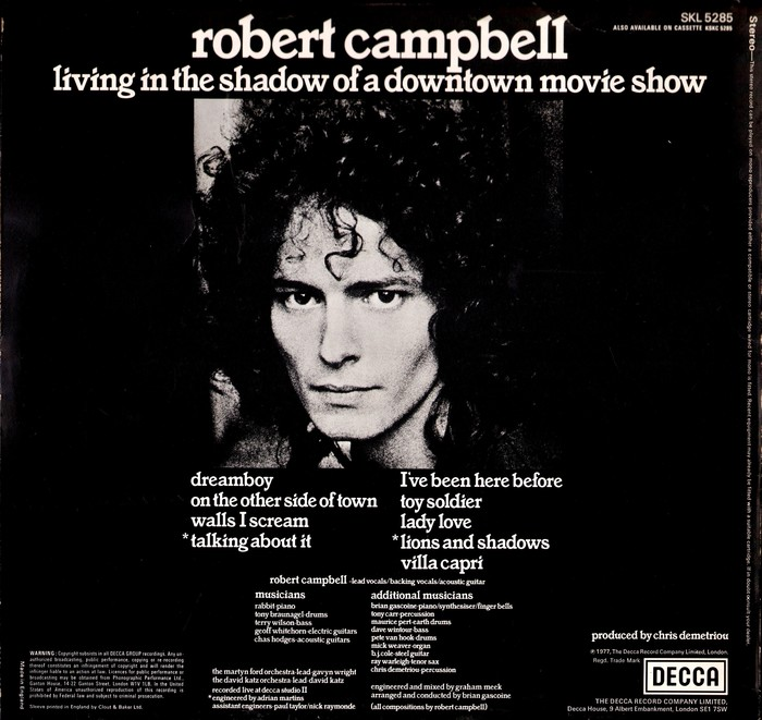 Robert Campbell – Living in the Shadow of a Downtown Movie Show album art 2