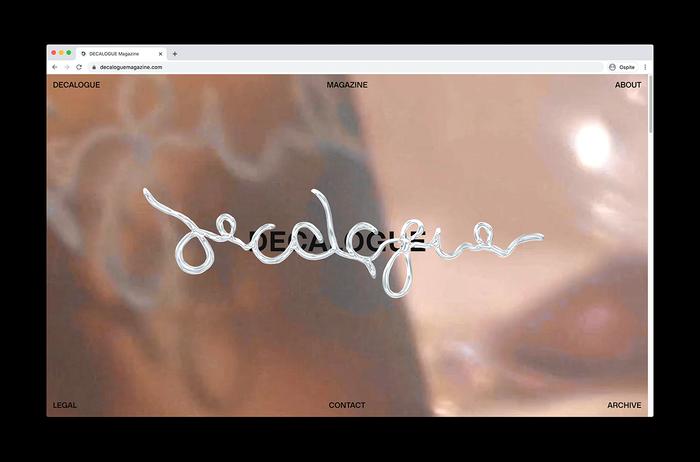 Decalogue Magazine website 1