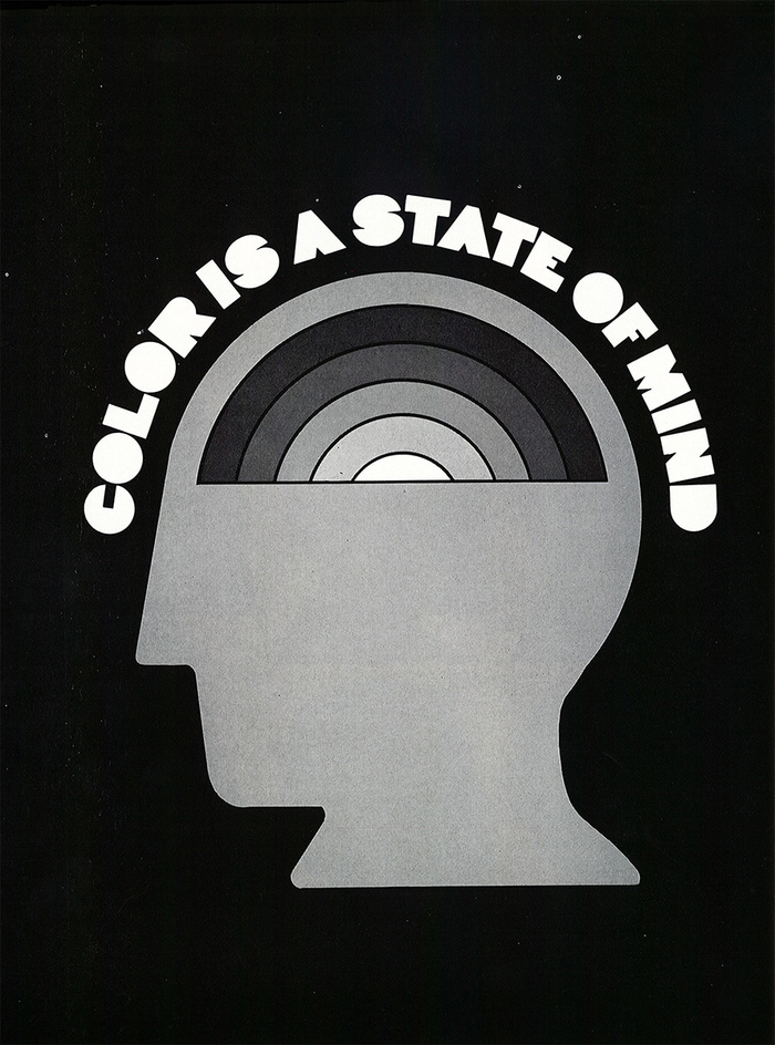 """""""Color is a state of mind"""", Print magazine (1969)"""