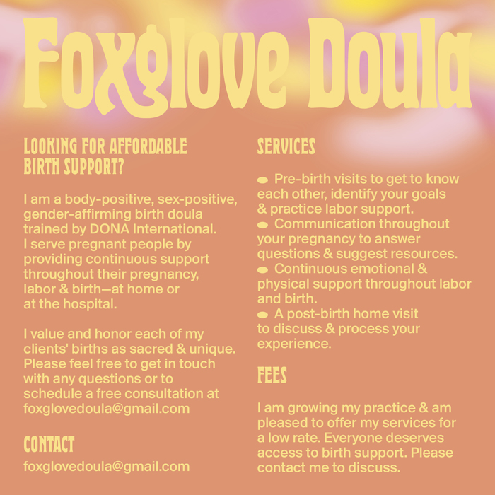 Foxglove Doula 5