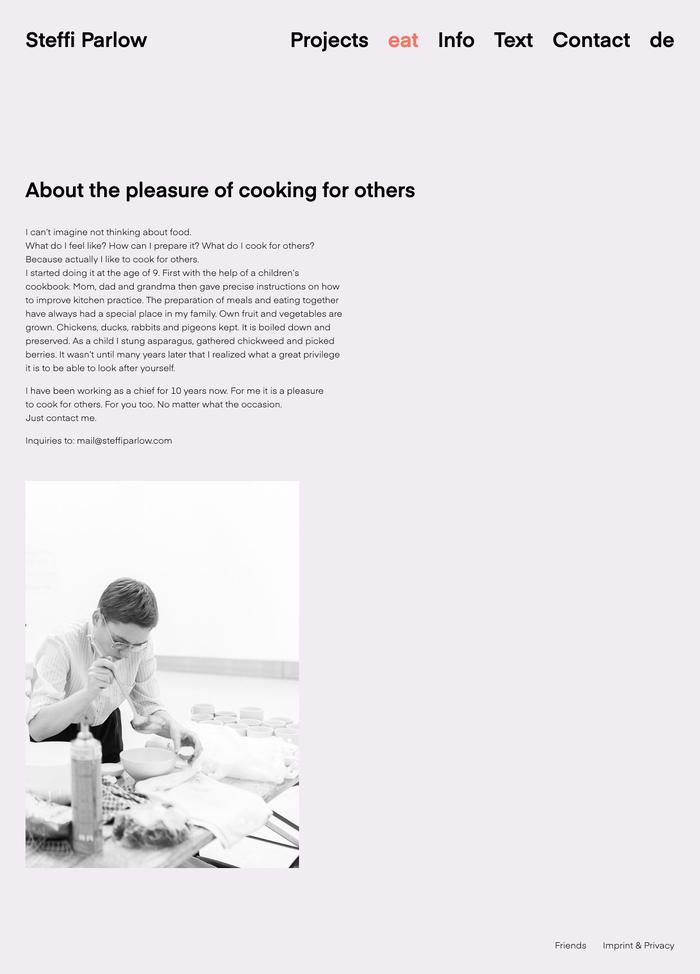 Steffi Parlow website 5