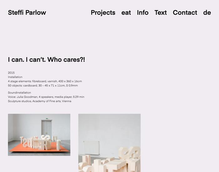 Steffi Parlow website 3