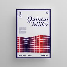 Quintus Miller lecture poster