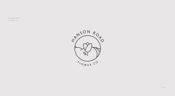Hanson Road Flower Co. visual identity 2
