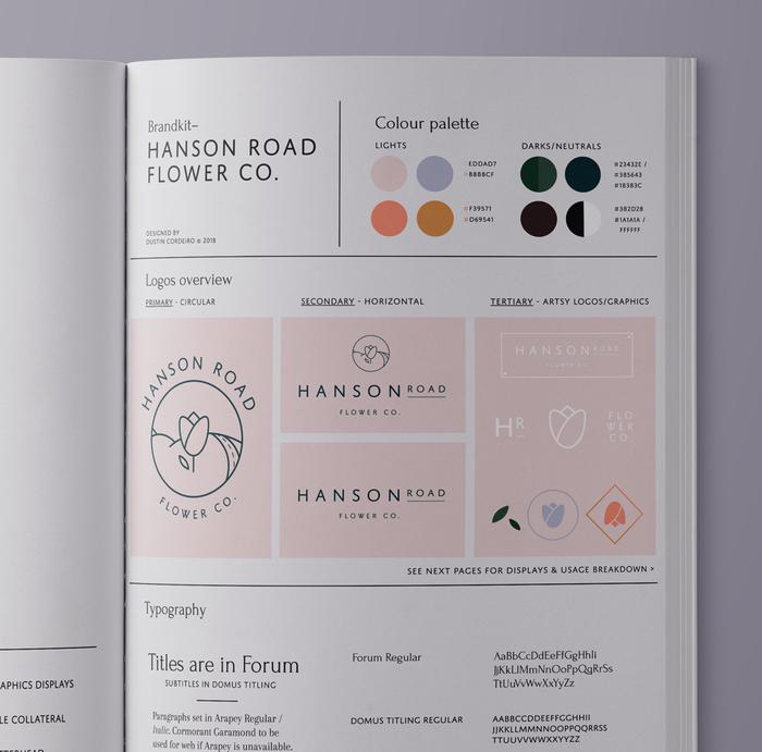 Hanson Road Flower Co. visual identity 12
