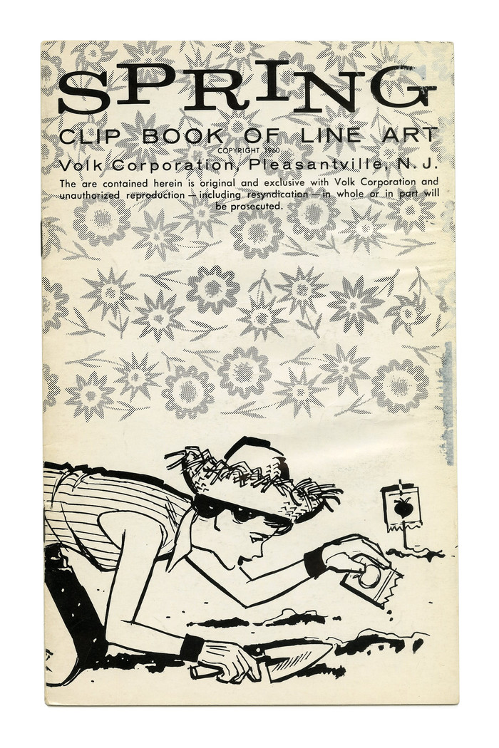 """""""Spring"""" (No. 69) with caps from  on a . The same face had been used for the spring-themed booklet from 1958, too."""