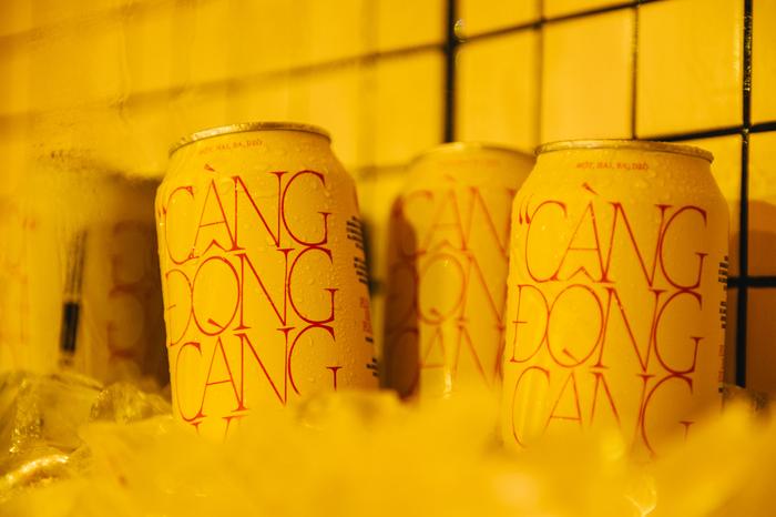 """""""Càng Đong Càng Vui"""" Red Tiger x Harricana beer can 1"""