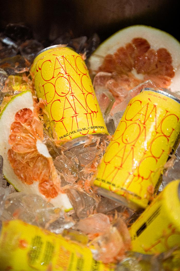 """""""Càng Đong Càng Vui"""" Red Tiger x Harricana beer can 3"""