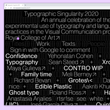 Typographic Singularity 2020