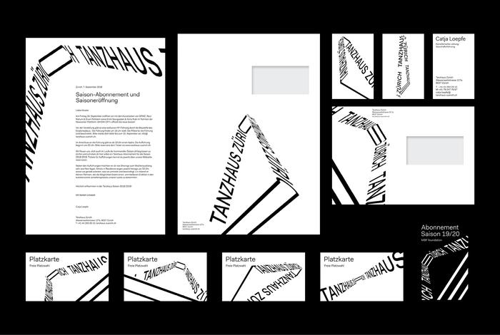 Tanzhaus Zürich visual identity 5