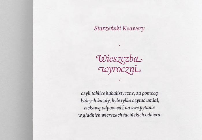 Wieszczba wyroczni, Second Edition Project 1