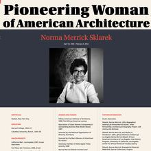 Pioneering Women of American Architecture website