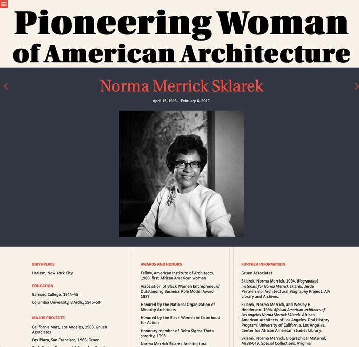 Pioneering Women of American Architecture website 1