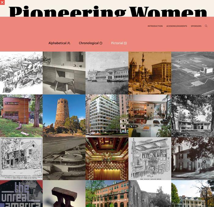 Pioneering Women of American Architecture website 5