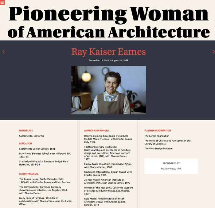 Pioneering Women of American Architecture website 6