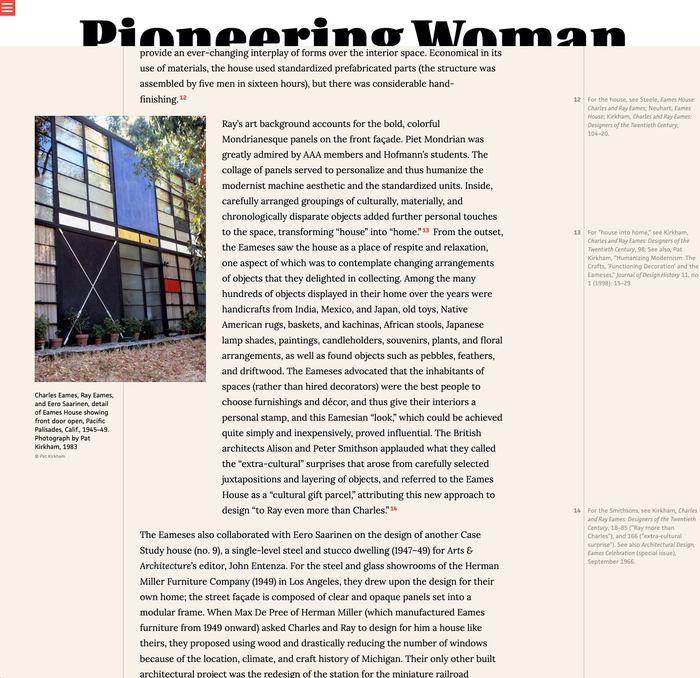 Pioneering Women of American Architecture website 7