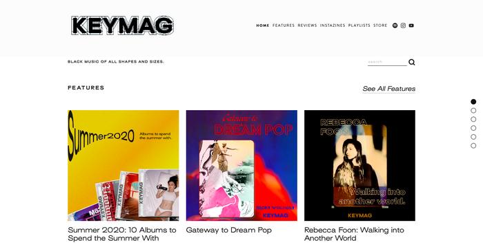 Keymag website and artwork 1