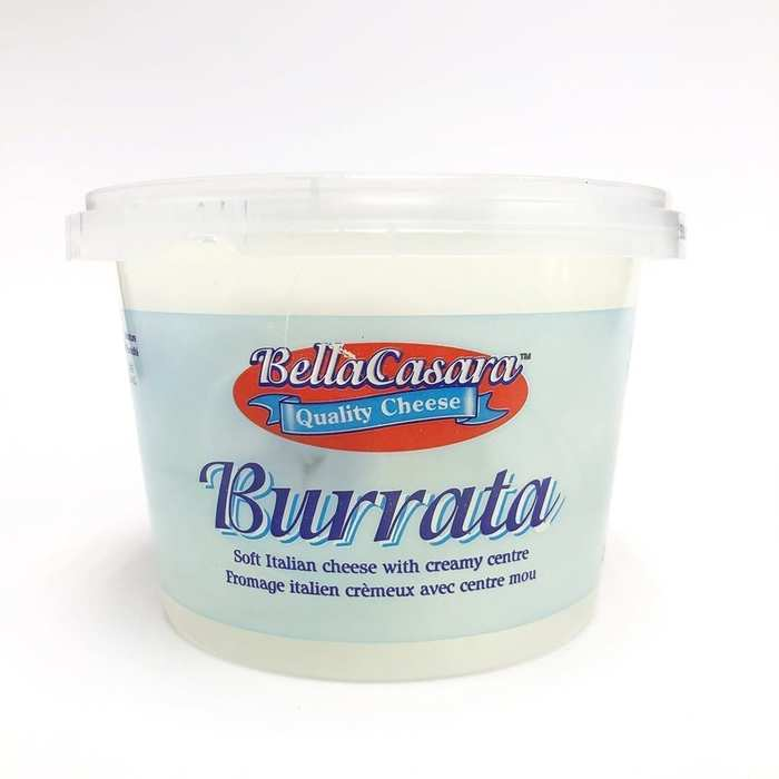 The burrata package shows another secondary logo font that looks like . The bilingual product info here is in .