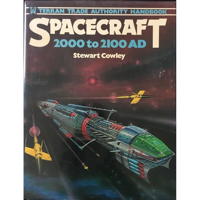 Spacecraft (Chartwell Books, 1978) with Dynamo and Gill Sans. Cover art by Angus McKie.