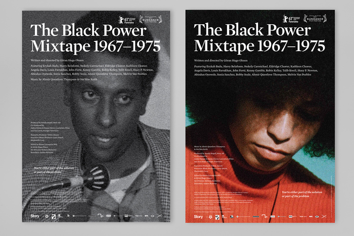 The set of posters showing photos of Stokely Carmichael and Angela Davis