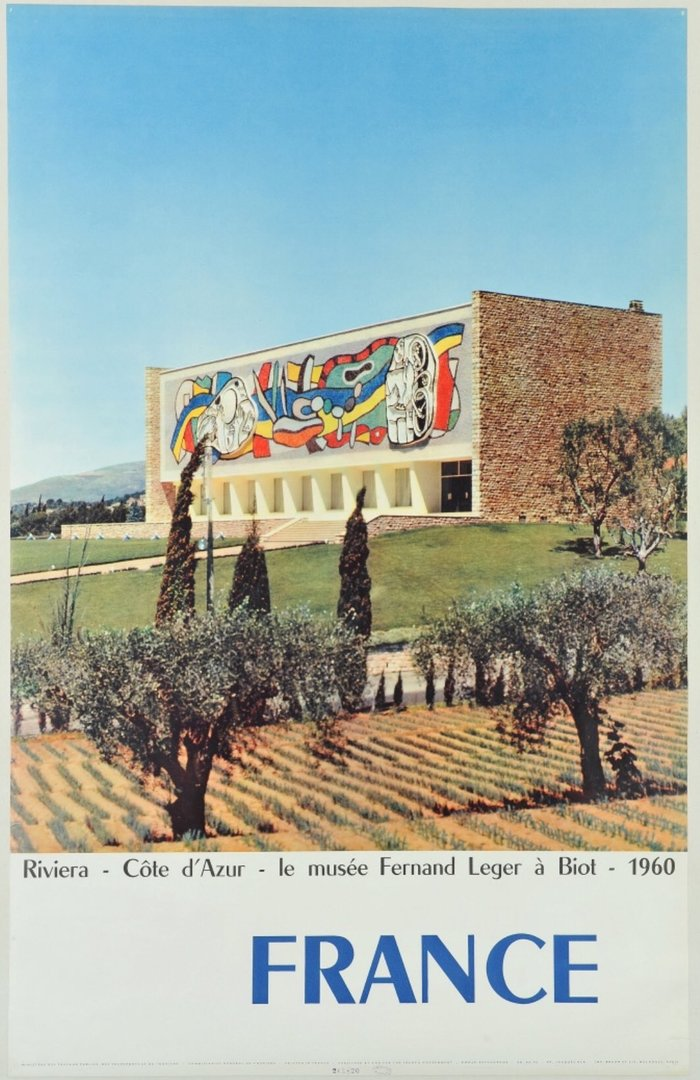 """The Musée national Fernand Léger in Biot, south-eastern France, featuring  demi-gras. I'm coming to think that """"France"""" is a logotype."""