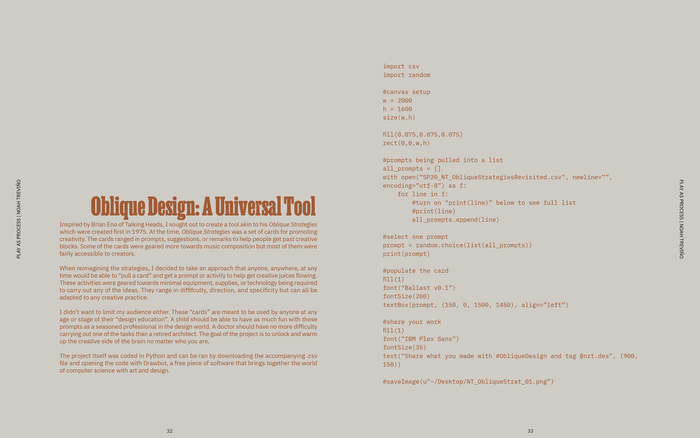 Research booklet spread