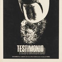 <cite>Testimonio</cite> (1970) movie poster