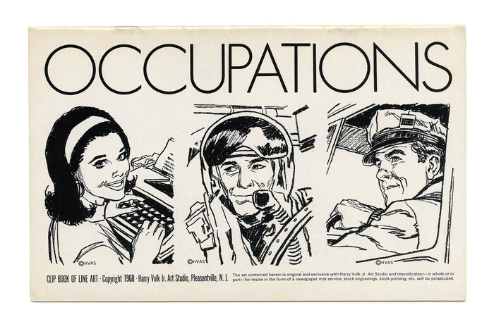 """Occupations"" (No. 497) likewise shows light caps from . Illustration by Tom Sawyer."