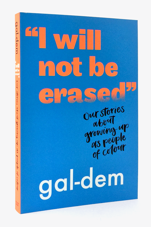 """I Will Not Be Erased"" book cover 2"