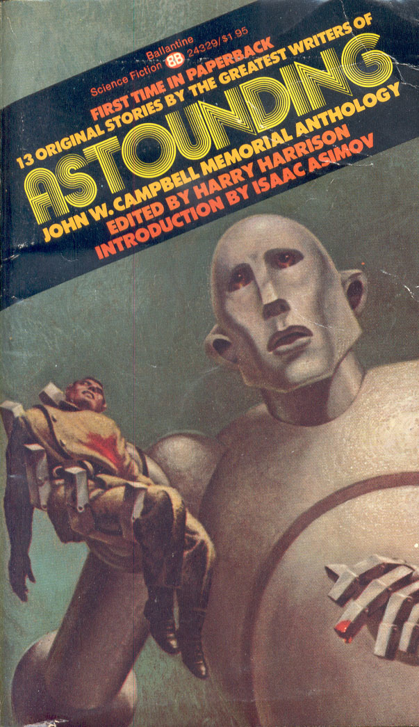"""Cover of the paperback edition by Ballantine, December 1974, with cover art by Frank Kelly Freas. Originally made in October 1953 as cover illustration for Tom Godwin's """"The Gulf Between"""" for Astounding Science Fiction magazine, this image was later reused for the cover of Queen's album News of the World (1977). [More info on ISFDB]"""