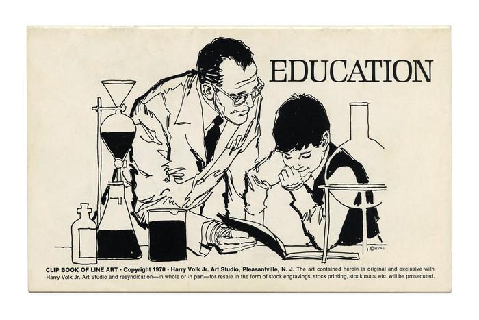 """""""Education"""" (No. 542) ft. caps from  (Zoltán Nagy, 1966)."""
