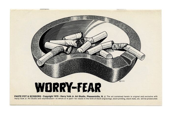 """""""Worry-Fear"""" from the Paste Pot & Scissors subseries (No. PP132) ft.  by Lewell Bordonaro."""
