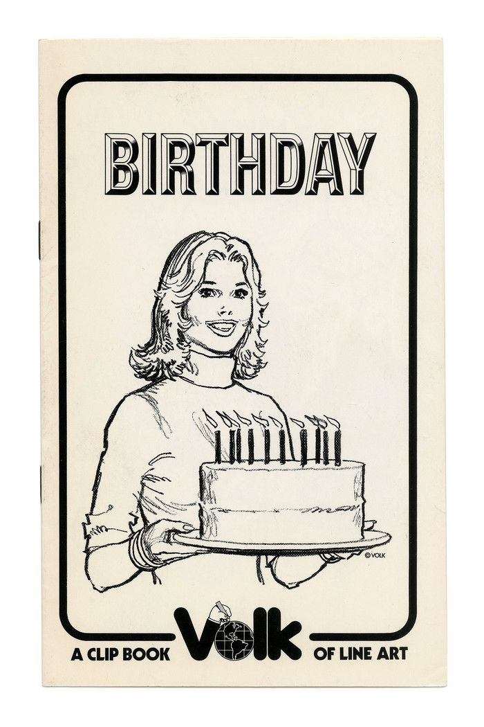 """Birthday"" (No. 307). Illustration by Tom Sawyer. The typeface is ."