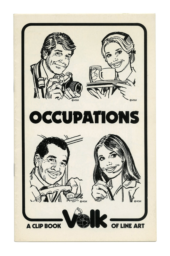"""Occupations"" (No. 314) ft. . Originally issued in 1930, this design was revived and extended at Letraset in the late 1970s."