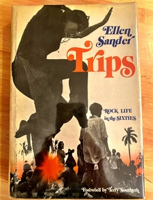<cite>Trips</cite> by Ellen Sander (Scribner's, 1973) front jacket