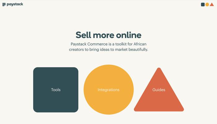 Paystack Commerce website 1