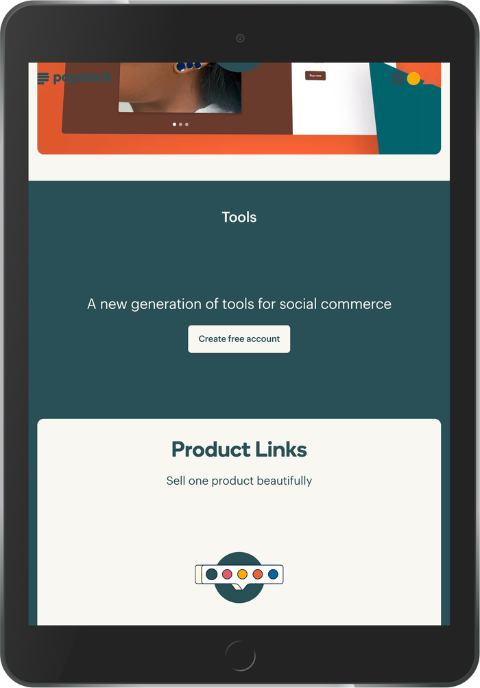 Paystack Commerce website 2