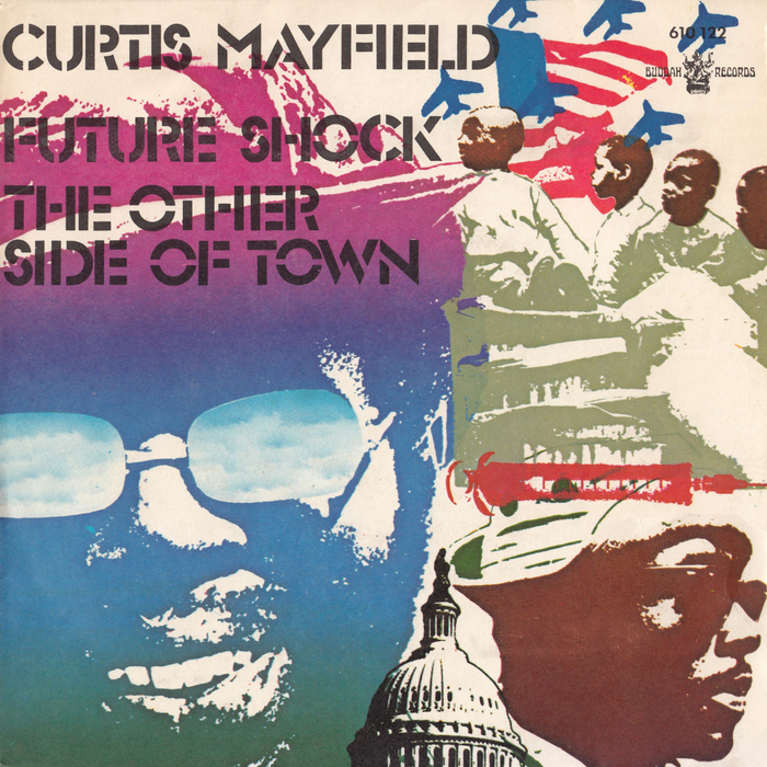 """Future Shock"" / ""The Other Side of Town"" single sleeve, Buddah Records, France, 1973."