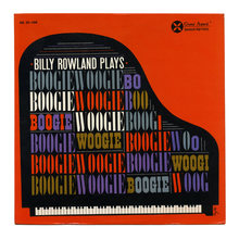 <span><span>Billy Rowland – </span></span><cite>Billy Rowland Plays Boogie Woogie</cite> album art