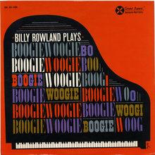<span><span>Billy Rowland – </span></span><cite>Billy Rowland Plays Boogie Woogie</cite> album art
