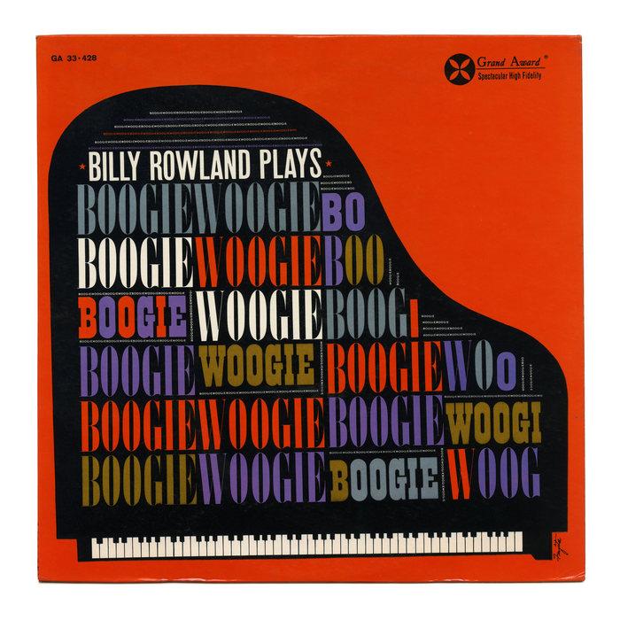 Billy Rowland – Billy Rowland Plays Boogie Woogie album art