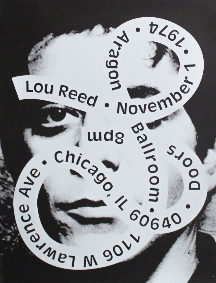 Lou Reed 1974 fictional concert poster 1