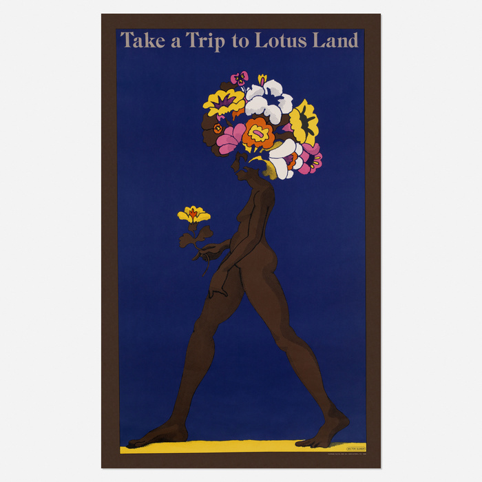 "Push Pin Graphic No. 52, ""Take a Trip to Lotus Land"" poster, 1967 1"