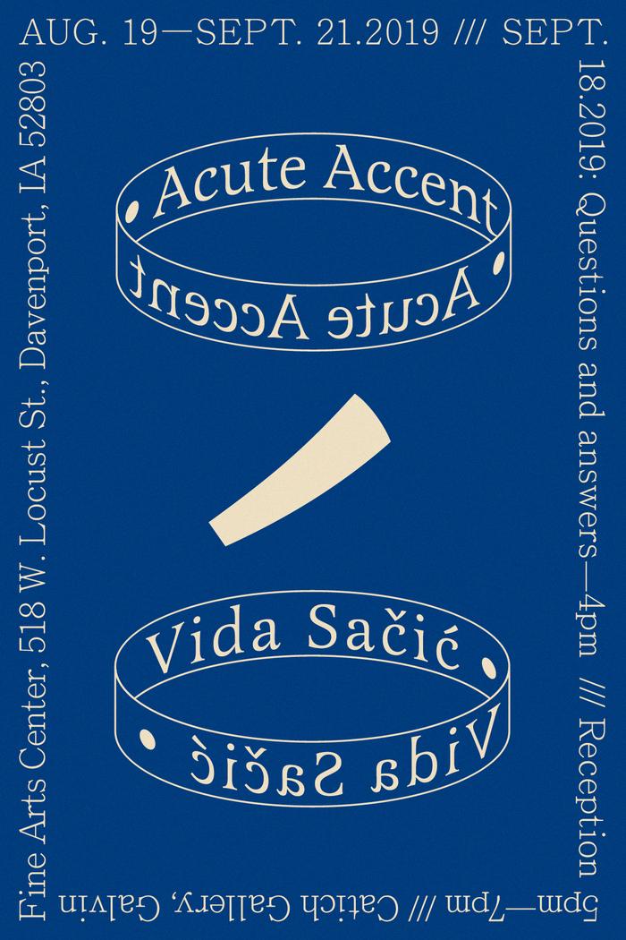 Flyers for Acute Accent by Vida Sačić 2
