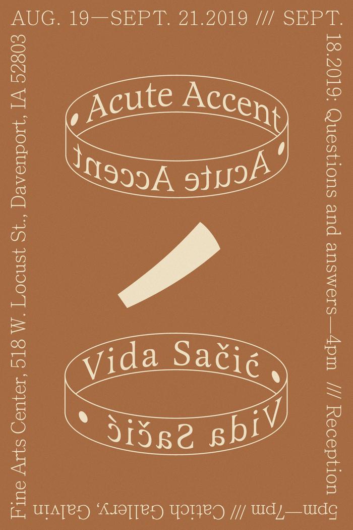 Flyers for Acute Accent by Vida Sačić 3