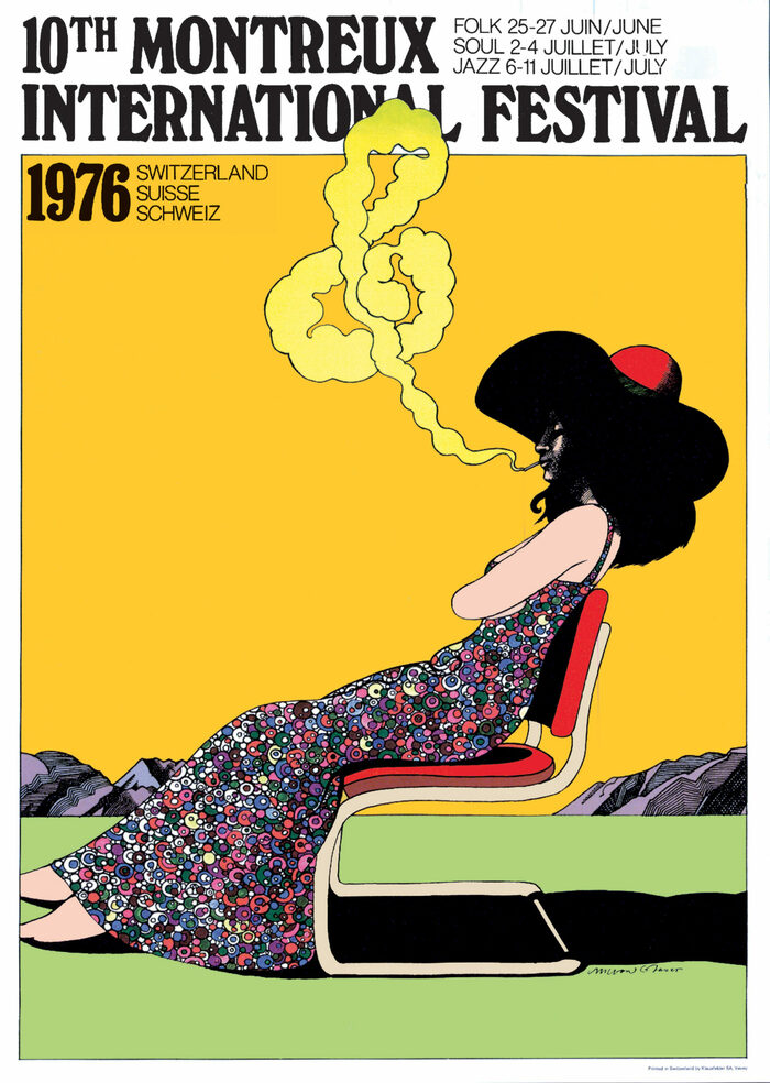 Montreux International Jazz Festival 1976 and 1977 posters 1